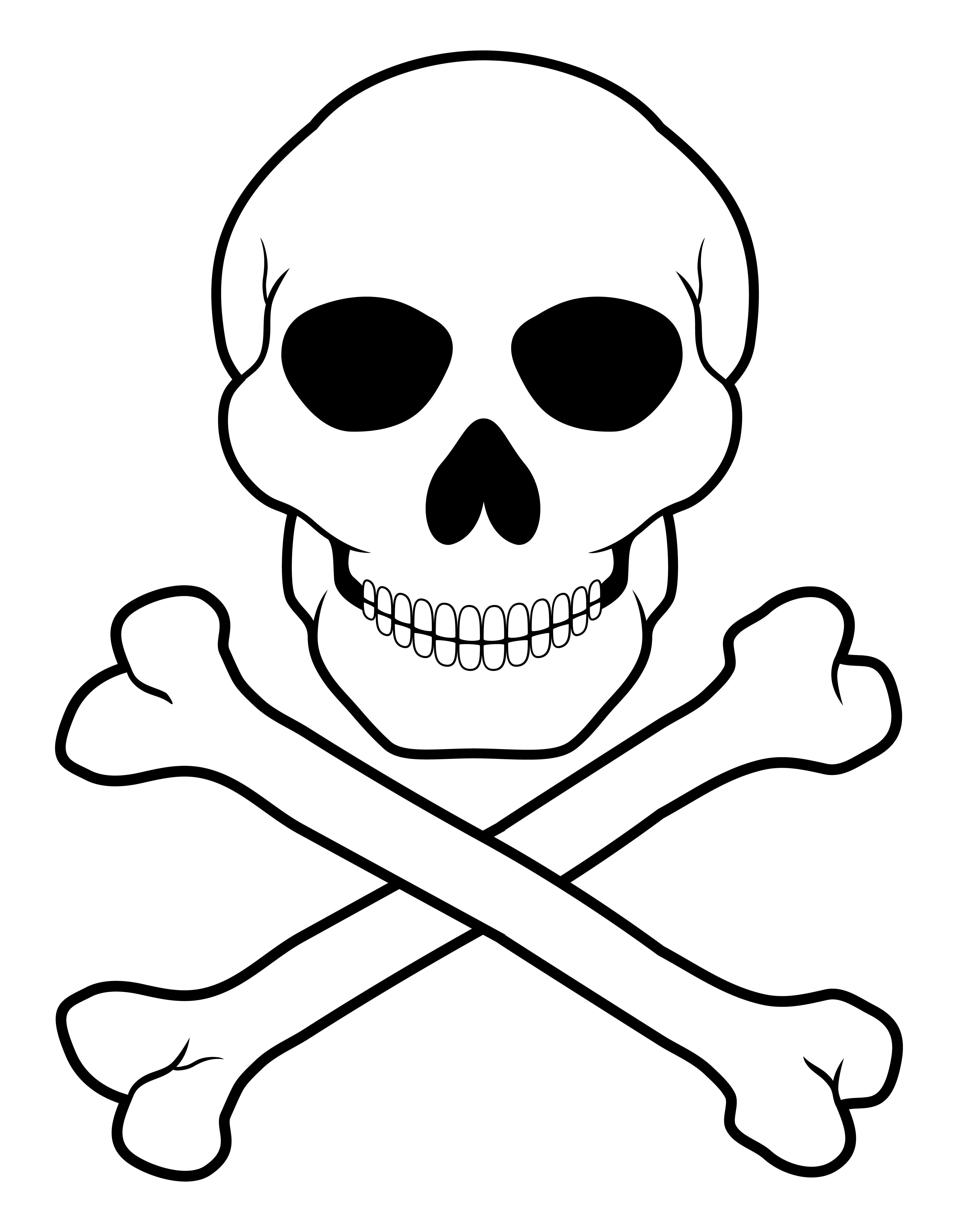 Totenkopf Pirat Vorlage Kinder Ausmalbilder