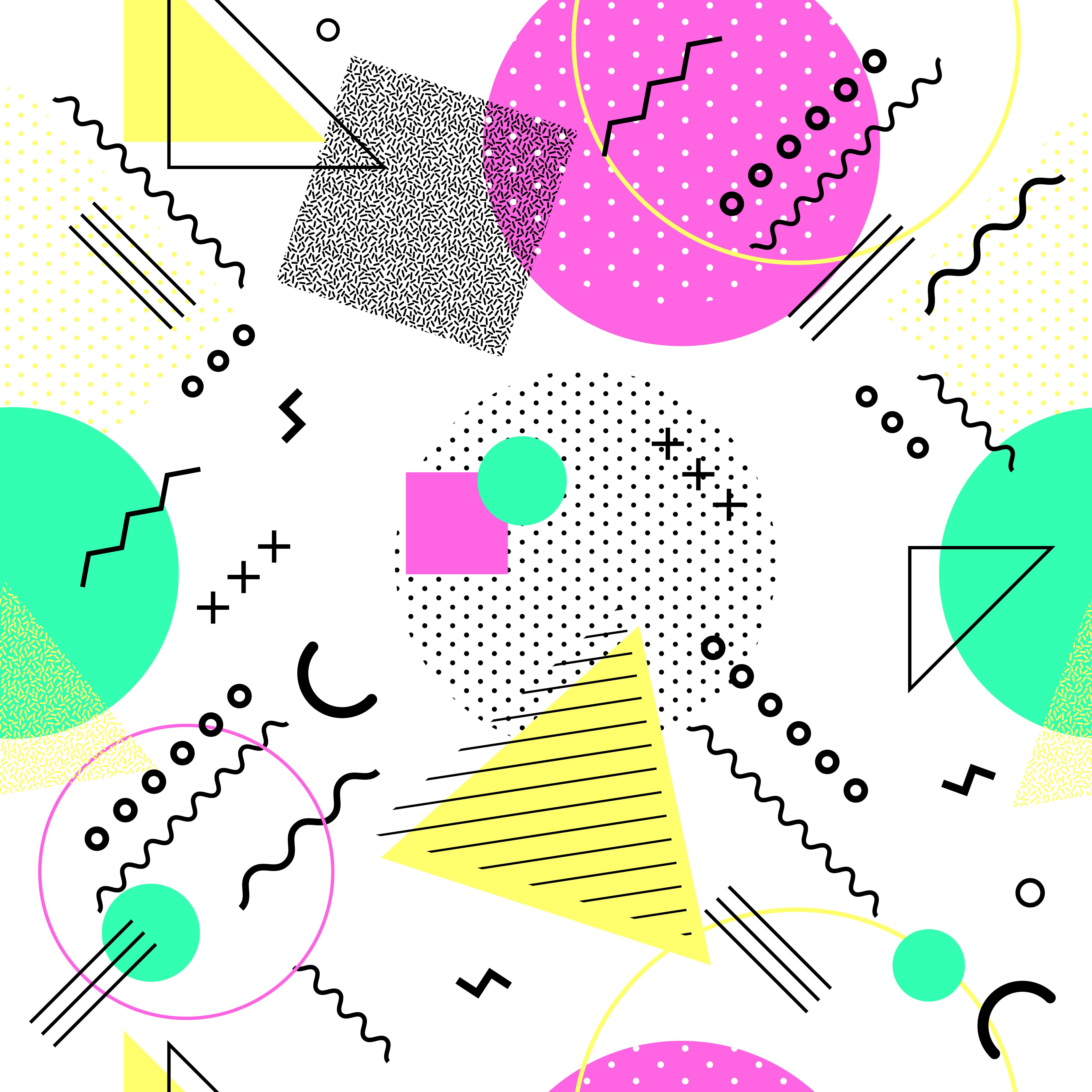 memphis seamless pattern colorful