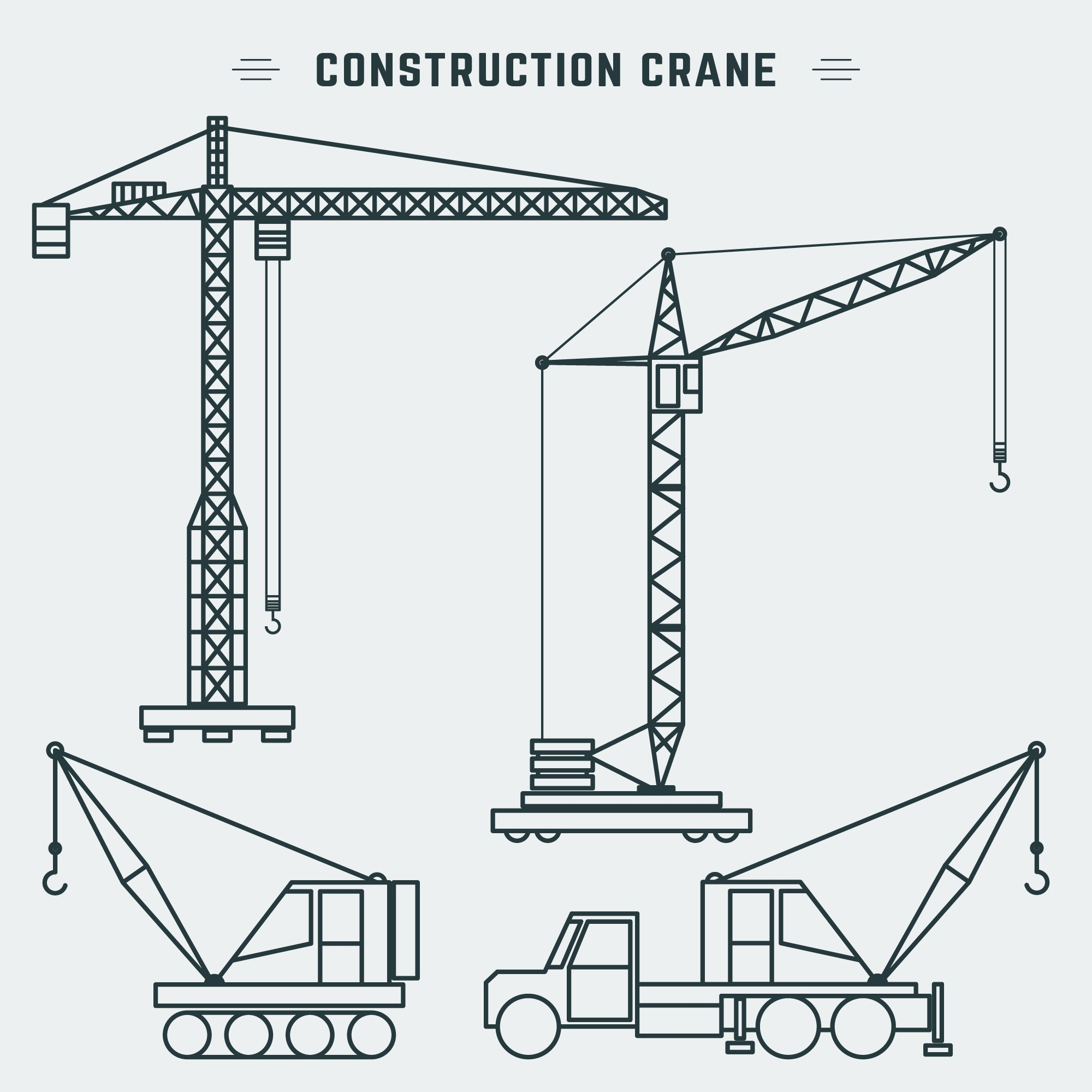 hight resolution of line design construction crane download free vector art stock graphics images