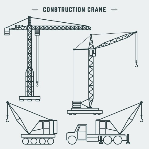 small resolution of line design construction crane download free vector art stock graphics images