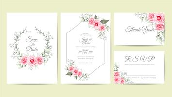 https www vecteezy com vector art 566894 elegant watercolor floral wedding invitation cards template hand drawing flower and branches save the date greeting thank you and rsvp cards multipurpose