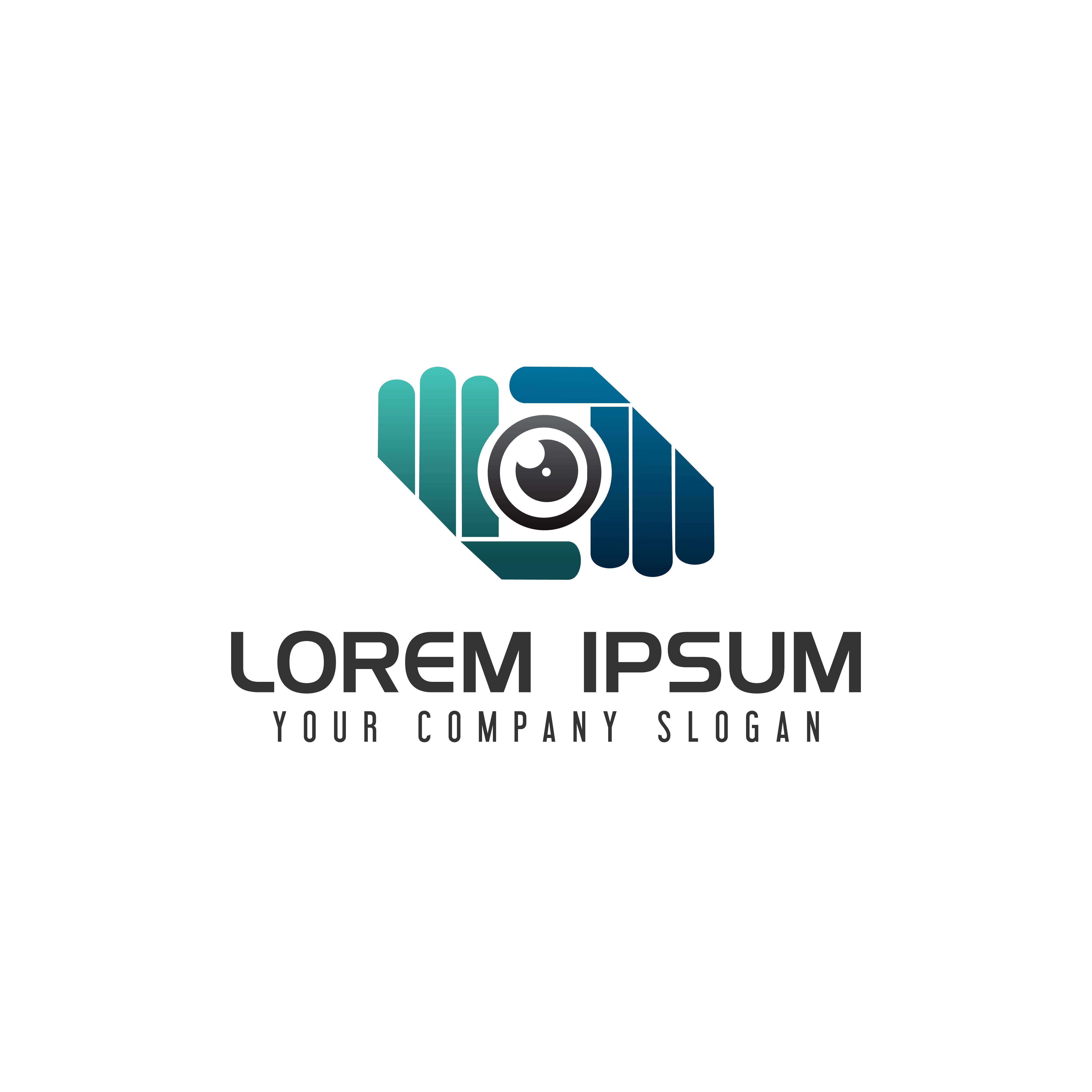 Hand Camera Lens Photography Logo Design Concept Template Download Free Vectors Clipart Graphics Vector Art