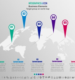 infographic business target group on world map world map and marketing icons can be used for workflow layout diagram report vector  [ 5895 x 4768 Pixel ]