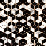 Vector Marble Texture Seamless Pattern Design With Golden Geometric Lines And Cubes Download Free Vectors Clipart Graphics Vector Art
