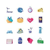 Fitness Icon Set Free Vector Art 1 058 Free Downloads
