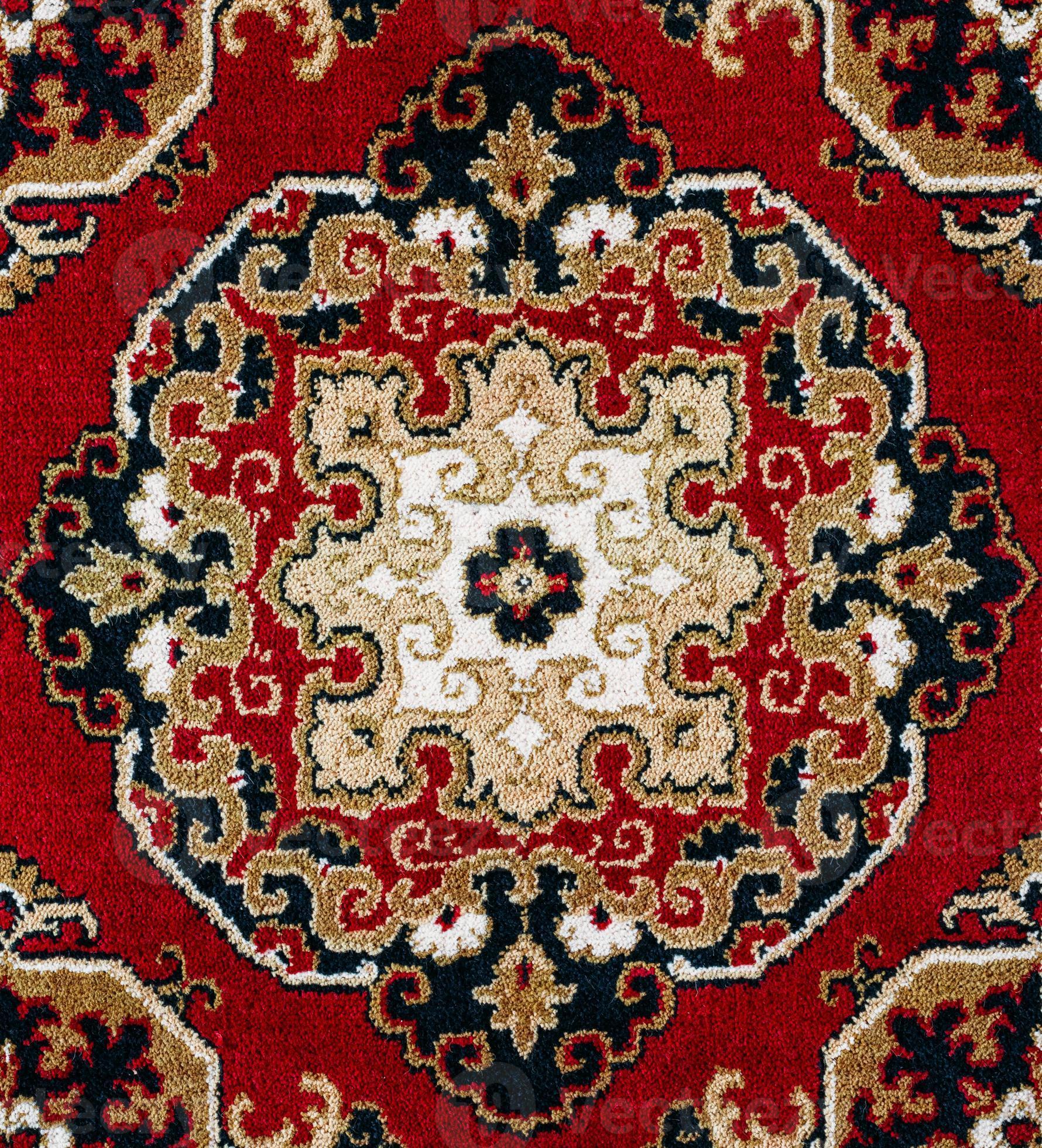 fond de tapis persan oriental rouge