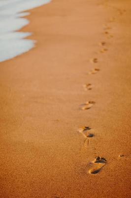 Trace De Pas Dans Le Sable : trace, sable, Traces, Sable, 1224624, Banque, Photos