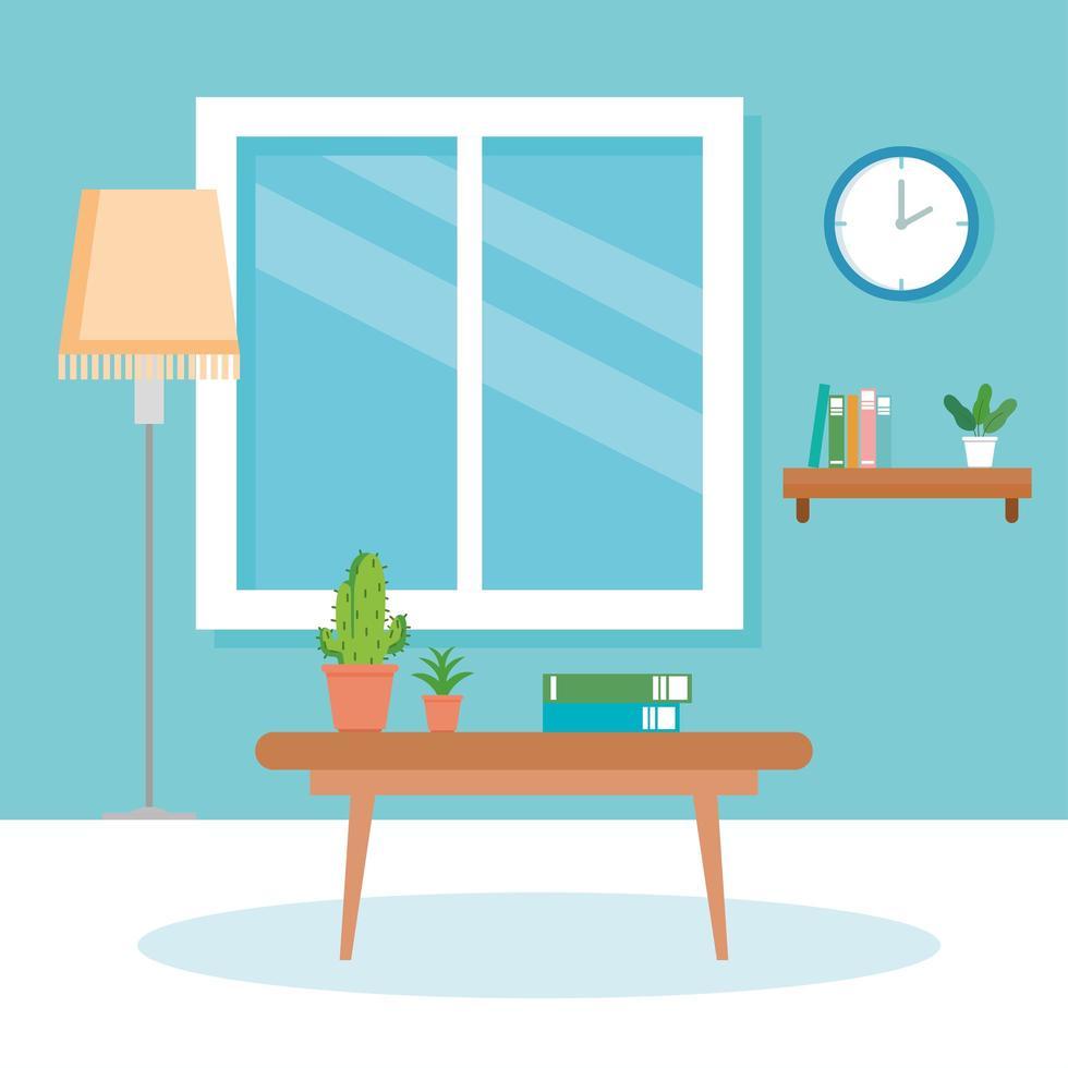https fr vecteezy com art vectoriel 1904549 interieur de maison scene avec lampe de table fenetre et decoration
