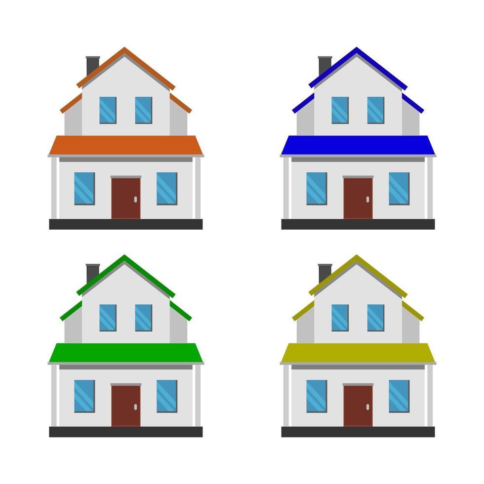 https fr vecteezy com art vectoriel 2038606 ensemble de maison sur fond blanc