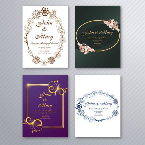 https fr vecteezy com art vectoriel 258066 modele de carte d invitation de mariage avec brochure florale decorative