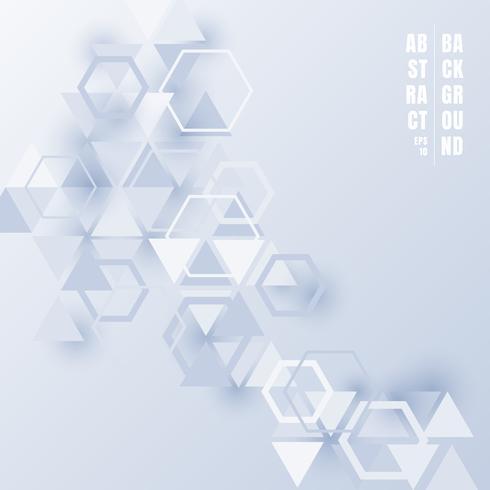 https fr vecteezy com art vectoriel 634970 hexagones et triangles abstraits couleur bleu clair avec des ombres sur fond blanc style de technologie futuriste de motif geometrique pour les presentations techniques d 39 entreprise