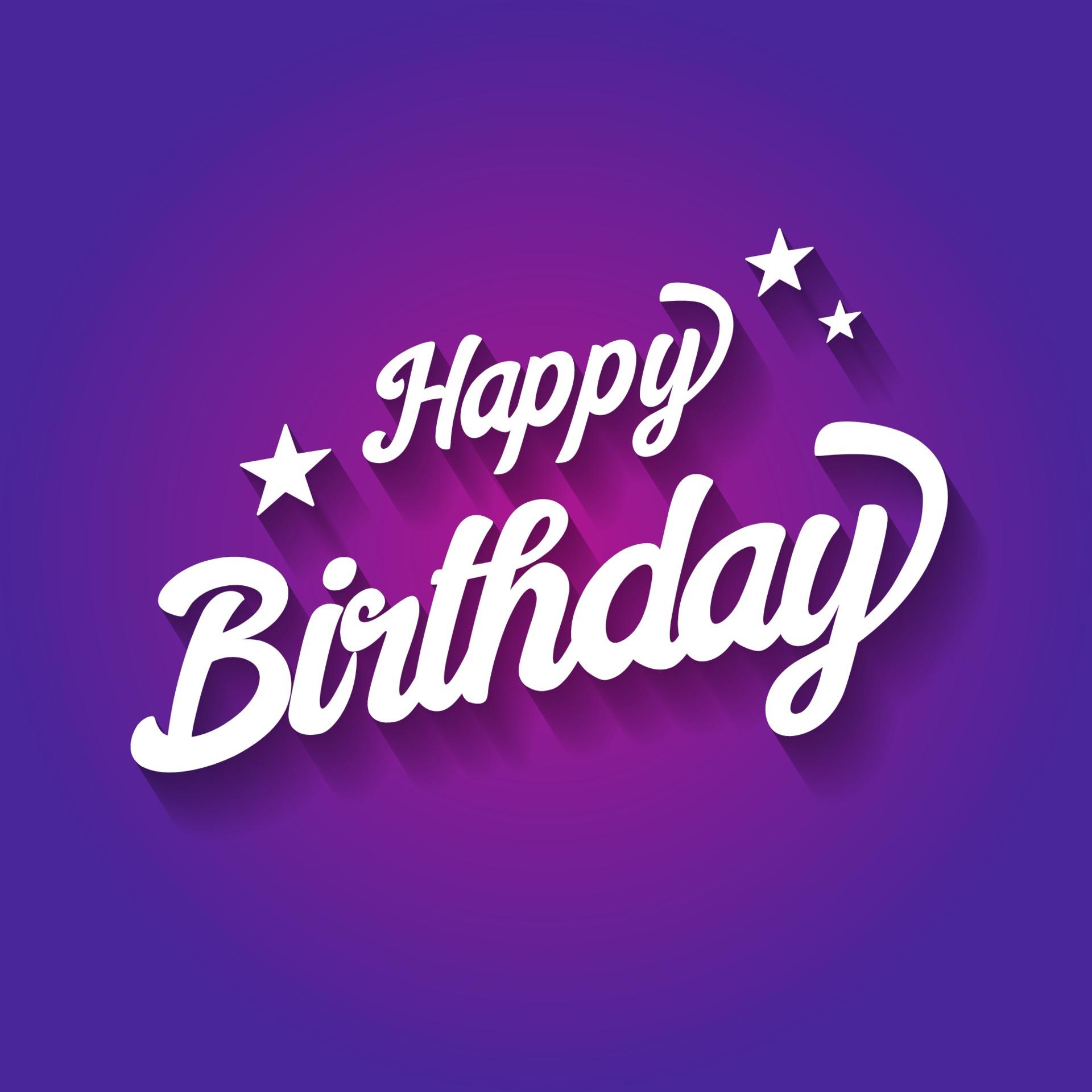 joyeux anniversaire typographique sur