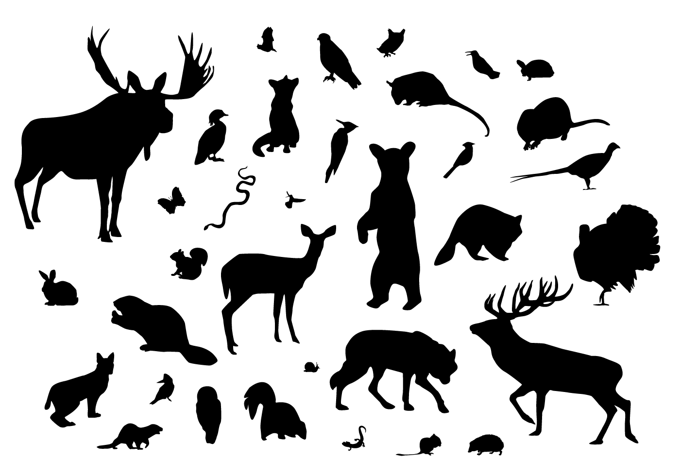 Silhouettes Des Animaux Forestiers Telecharger Vectoriel Gratuit Clipart Graphique Vecteur Dessins Et Pictogramme Gratuit