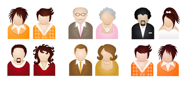 10 People Vector Illustrations
