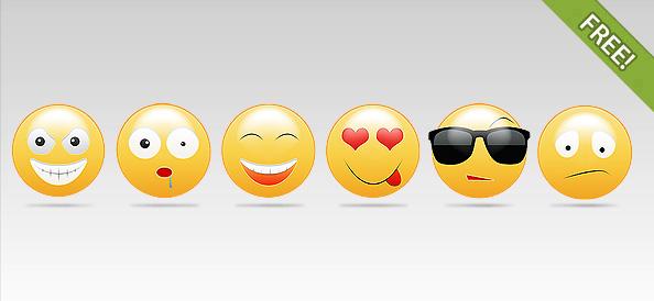 6 Smiley Faces