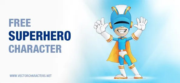 Welcoming Superhero Vector Character