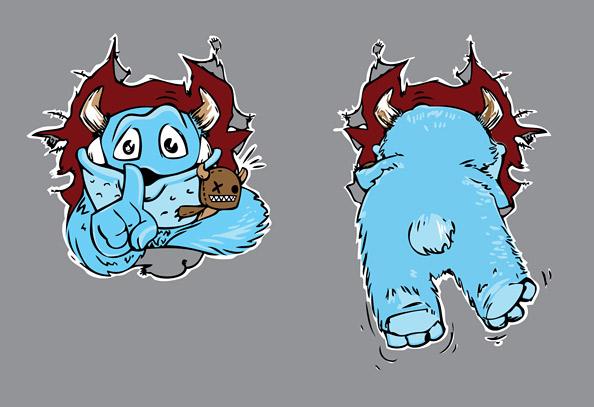 Sweet Monster Vector Illustration Preview