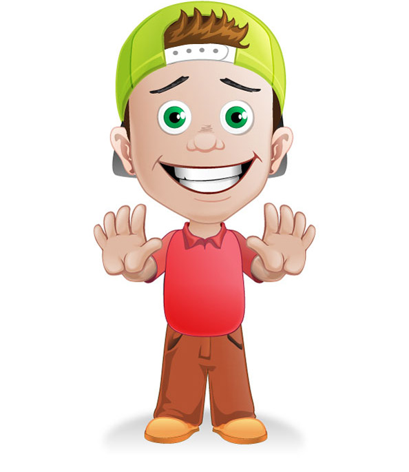 Free boy vector character with a hat vector characters - Cartoon boy wallpaper ...