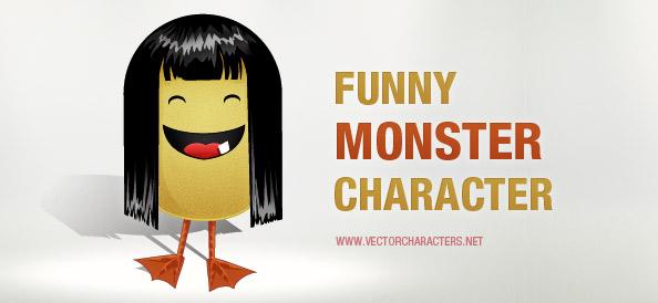 Funny Monster Character Illustration