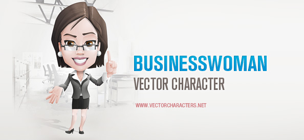 Business Woman Vector Character