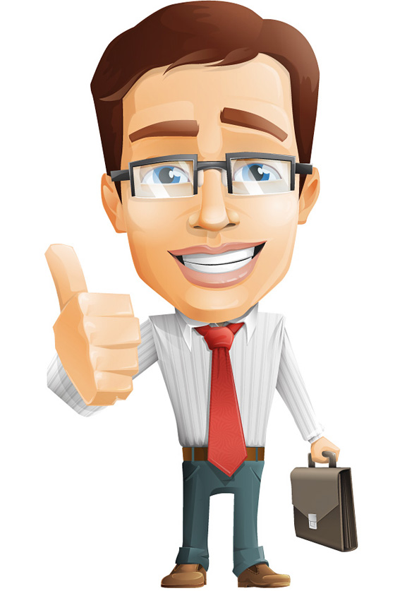 Businessman Vector Character Preview Big