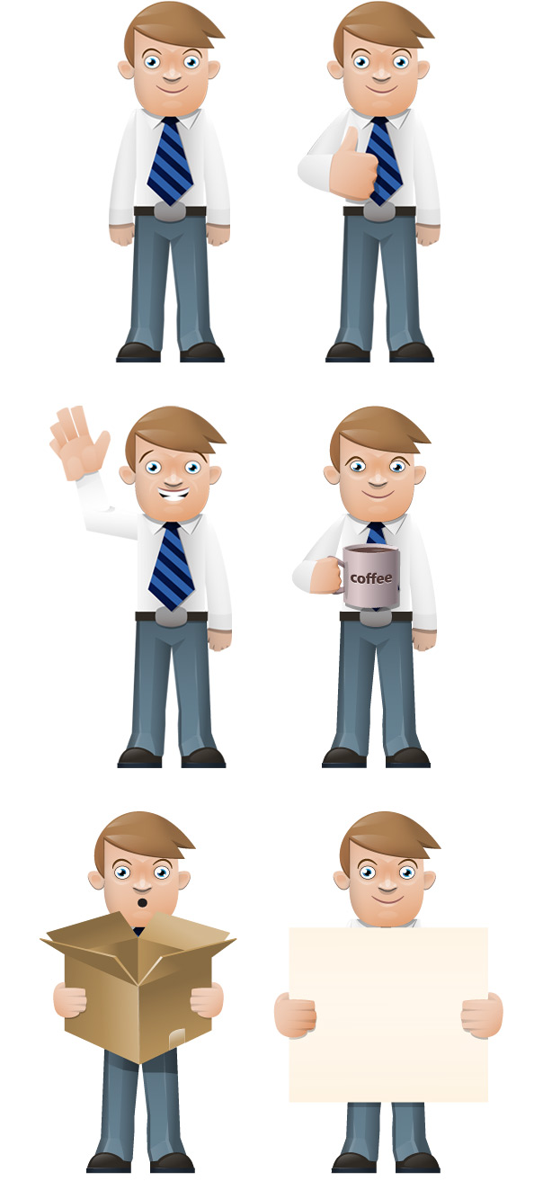 Smart Boy Vector Character Preview Big