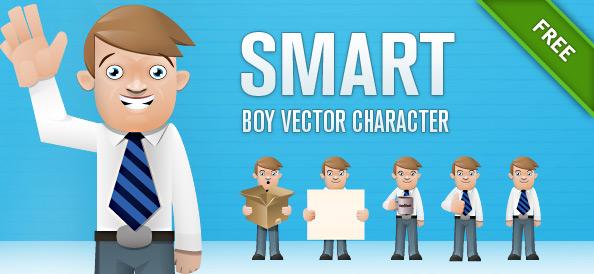 Smart Boy Vector Character Set