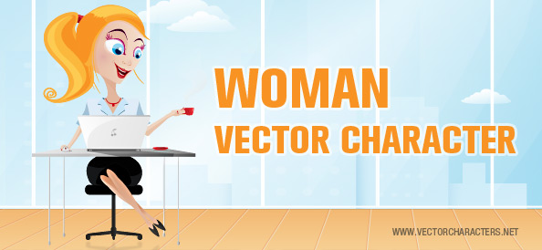 Woman Business Vector Character