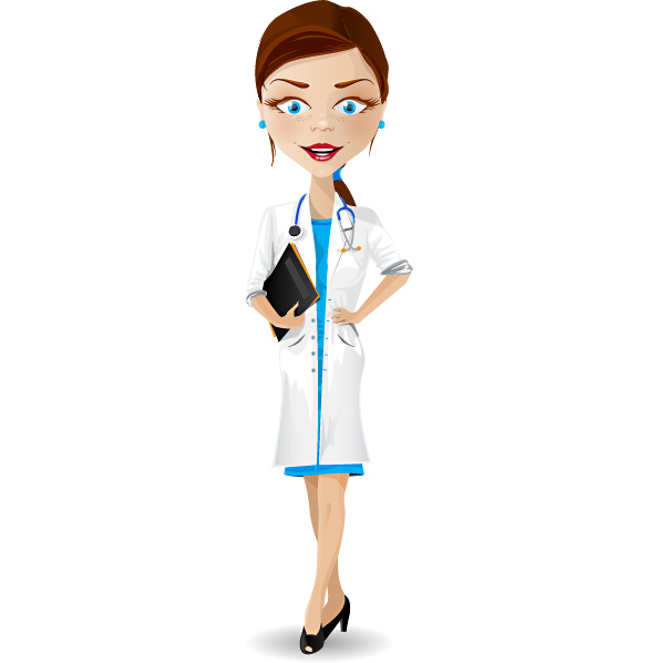 Female Doctor Vector Character Preview