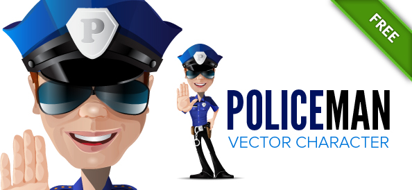 Policeman Vector Character