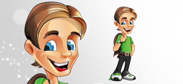 Cute Boy Vector Character