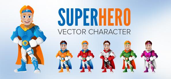 Vector Hero Cartoon Character
