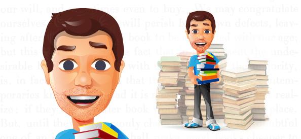 Librarian Vector Character