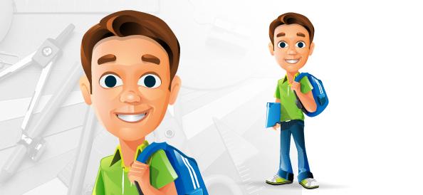 Schoolboy Vector Character