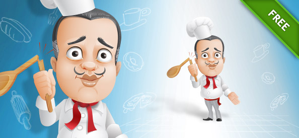 French Chef Vector Character