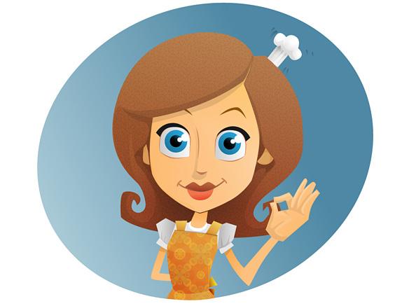 Baker Girl Vector Character