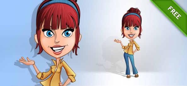 Casual Girl Vector Character