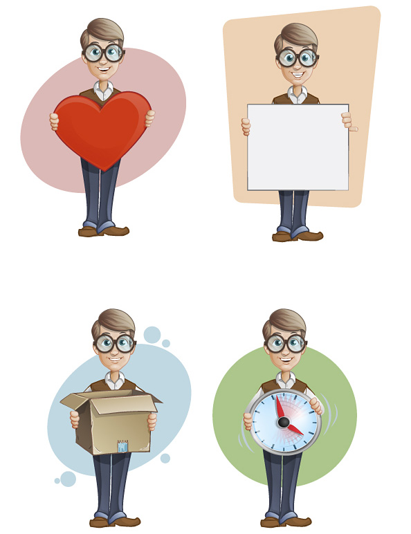 Free Geek Vector Character Set