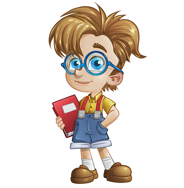 Geek Boy Vector Character