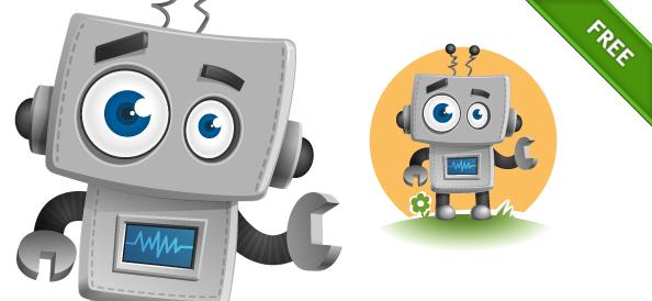 Cute Vector Robot Character