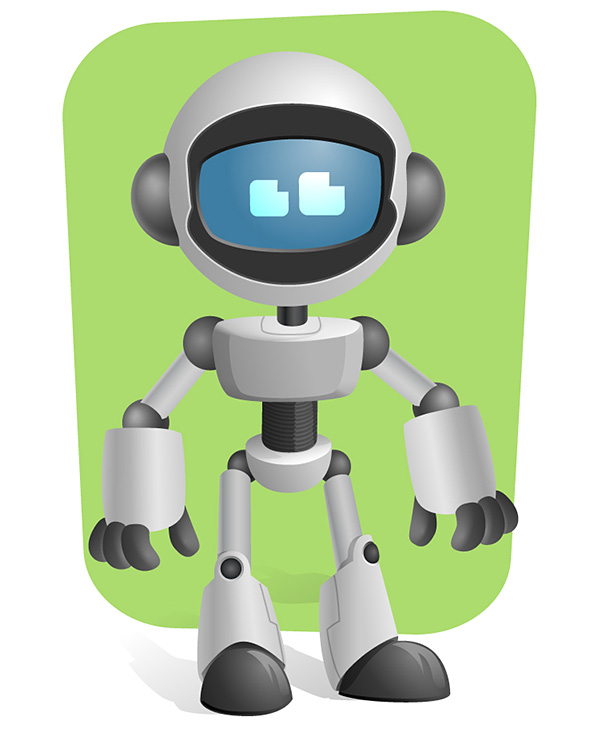 Vector Robot Character Preview