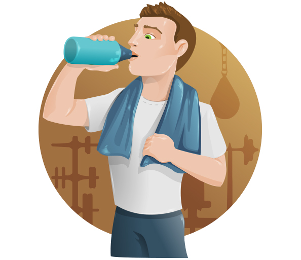 Fitness Guy Vector Character