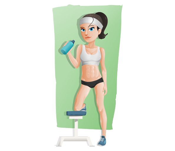 Vector Fitness Girl