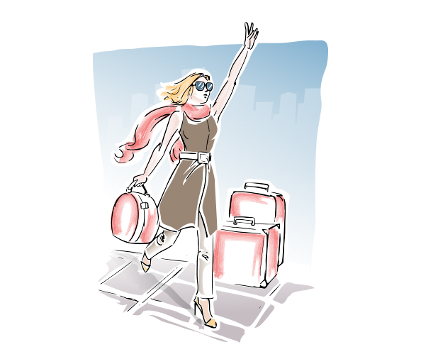 Vector Illustration of Travel Girl