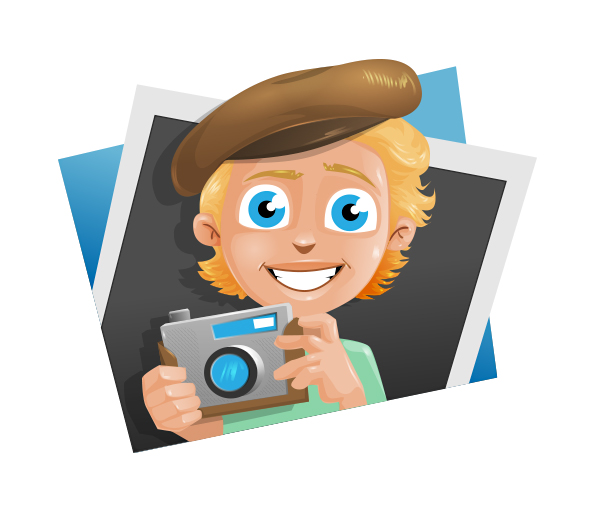 Camera Boy Vector Illustration