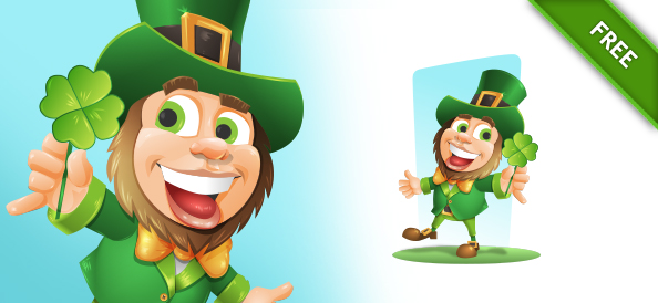 Free Vector Character for Saint Patrick Day