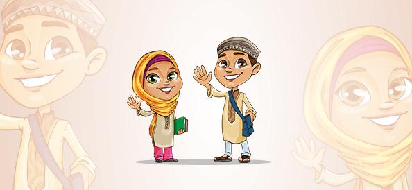Vector Muslim Kids