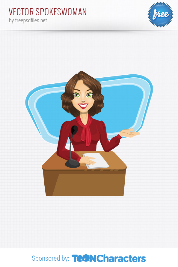 Vector Spokeswoman Character