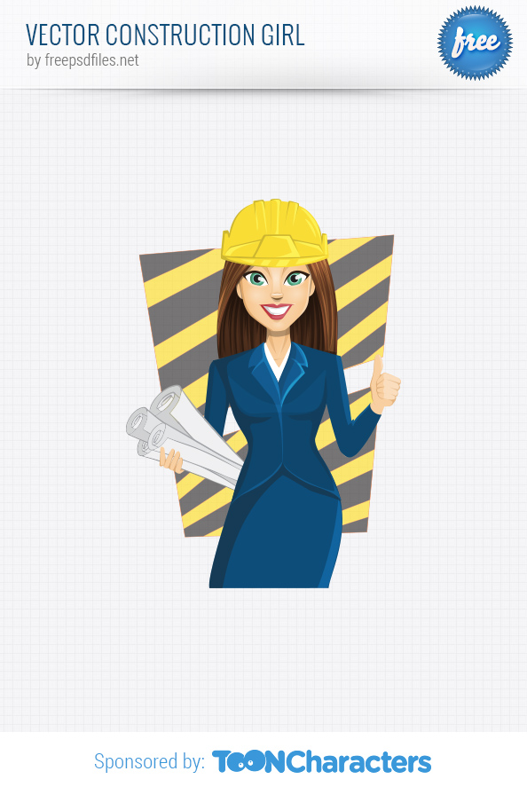 Vector Construction Girl