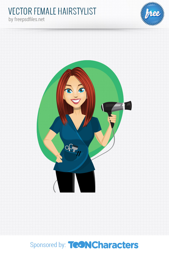 Vector Female Hairstylist